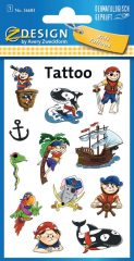 Avery Zweckform Z-Design No. 56683 öntapadó tetoválás matrica - vicces kalózok motívumokkal - kiszerelés: 1 ív / csomag (Avery Z-Design 56683)