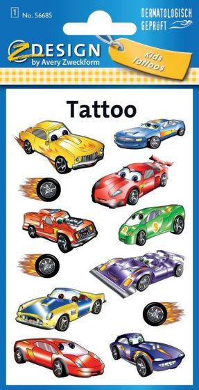 Avery Zweckform Z-Design No. 56685 öntapadó tetoválás matrica - versenyautók motívumokkal - kiszerelés: 1 ív / csomag (Avery Z-Design 56685)