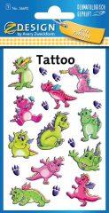 Avery Zweckform Z-Design No. 56692 öntapadó tetoválás matrica - színes sárkányok motívumokkal - kiszerelés: 1 ív / csomag (Avery Z-Design 56692)