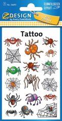 Avery Zweckform Z-Design No. 56693 öntapadó tetoválás matrica - tréfás pókok motívumokkal - kiszerelés: 1 ív / csomag (Avery Z-Design 56693)