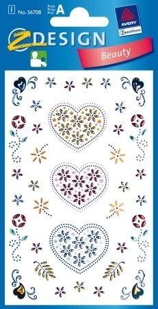 Avery Zweckform Z-Design No. 56708 öntapadó dekorációs matrica - szív motívumokkal - kiszerelés: 1 ív / csomag (Avery Z-Design 56708)