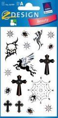 Avery Zweckform Z-Design No. 56709 öntapadó dekorációs matrica - tetoválás motívumokkal - kiszerelés: 1 ív / csomag (Avery Z-Design 56709)