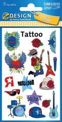 Avery Zweckform Z-Design No. 56732 öntapadó tetoválás matrica - rocksztár motívumokkal - kiszerelés: 1 ív / csomag (Avery Z-Design 56732)