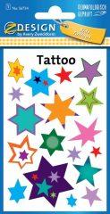 Avery Zweckform Z-Design No. 56734 öntapadó tetoválás matrica - színes csillagok motívumokkal - kiszerelés: 1 ív / csomag (Avery Z-Design 56734)