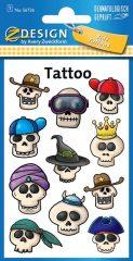 Avery Zweckform Z-Design No. 56736 öntapadó tetoválás matrica - vicces koponyák motívumokkal - kiszerelés: 1 ív / csomag (Avery Z-Design 56736)