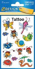 Avery Zweckform Z-Design No. 56737 öntapadó tetoválás matrica - tréfás állatkák motívumokkal - kiszerelés: 1 ív / csomag (Avery Z-Design 56737)