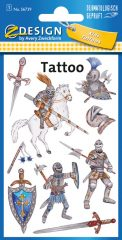 Avery Zweckform Z-Design No. 56739 öntapadó tetoválás matrica - középkori lovagok motívumokkal - kiszerelés: 1 ív / csomag (Avery Z-Design 56739)