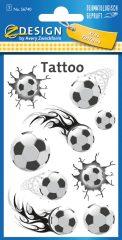 Avery Zweckform Z-Design No. 56740 öntapadó tetoválás matrica - focilabdák motívumokkal - kiszerelés: 1 ív / csomag (Avery Z-Design 56740)
