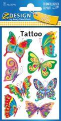 Avery Zweckform Z-Design No. 56742 öntapadó tetoválás matrica - színes pillangók motívumokkal - kiszerelés: 1 ív / csomag (Avery Z-Design 56742)