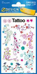 Avery Zweckform Z-Design No. 56749 öntapadó tetoválás matrica - kúszó indák motívumokkal - kiszerelés: 1 ív / csomag (Avery Z-Design 56749)