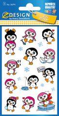 Avery Zweckform Z-Design No. 56791 öntapadó fémhatású matrica - pingvines képekkel - kiszerelés: 1 ív / csomag (Avery Z-Design 56791)