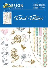 """Avery Zweckform Z-Design No. 56803 öntapadó tetoválás matrica - """"Romantik"""" motívumokkal - kiszerelés: 1 ív / csomag (Avery Z-Design 56803)"""