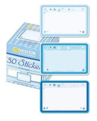 Avery Zweckform Z-Design No. 56821 öntapadó matrica fagyasztott termékekre - jégcsillag motívumokkal - kiszerelés: 1 tekercs, 50 darab matrica / doboz (Avery Z-Design 56821)