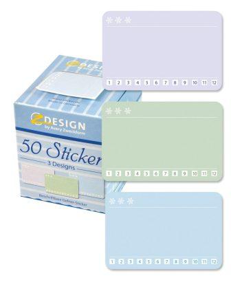 Avery Zweckform Z-Design No. 56822 öntapadó matrica fagyasztott termékekre - 12 havi beosztással - kiszerelés: 1 tekercs, 50 darab matrica / doboz (Avery Z-Design 56822)
