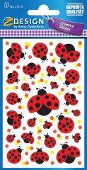 Avery Zweckform Z-Design No. 57513 öntapadó papír matrica - katicabogár mintával - kiszerelés: 2 ív / csomag (Avery Z-Design 57513)
