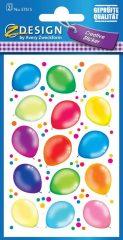Avery Zweckform Z-Design No. 57515 öntapadó papír matrica - színes luftballon motívumokkal - kiszerelés: 2 ív / csomag (Avery Z-Design 57515)