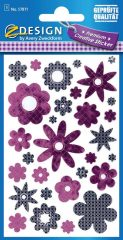 Avery Zweckform Z-Design No. 57871 öntapadó fólia matrica - lila virágok képekkel - kiszerelés: 1 ív / csomag (Avery Z-Design 57871)