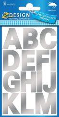 Avery Zweckform Z-Design No. 59125 időjárásálló öntapadó nyomtatott nagybetűk - ezüst színben - kiszerelés: 2 ív / csomag (Avery Z-Design 59125)