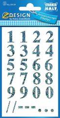 Avery Zweckform Z-Design No. 59159 öntapadó átlátszó számok - arany színben - kiszerelés: 2 ív / csomag (Avery Z-Design 59159)
