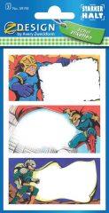 Avery Zweckform Z-Design No. 59193 papír matrica iskolai füzetekre - szuperhősök motívumokkal - kiszerelés: 3 ív / csomag (Avery Z-Design 59193)