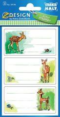 Avery Zweckform Z-Design No. 59196 papír matrica iskolai füzetekre - őzike motívumokkal - kiszerelés: 3 ív / csomag (Avery Z-Design 59196)