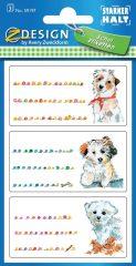 Avery Zweckform Z-Design No. 59197 papír matrica iskolai füzetekre - kiskutya motívumokkal - kiszerelés: 3 ív / csomag (Avery Z-Design 59197)