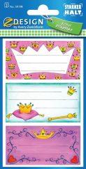 Avery Zweckform Z-Design No. 59198 öntapadó füzet matrica - korona motívumokkal - kiszerelés: 2 ív / csomag (Avery Z-Design 59198)
