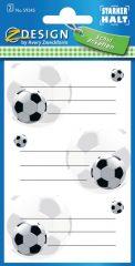 Avery Zweckform Z-Design No. 59245 öntapadó füzet matrica - focilabdás motívumokkal - kiszerelés: 2 ív / csomag (Avery Z-Design 59245)