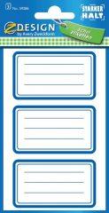 Avery Zweckform Z-Design No. 59286 öntapadó füzet matrica - kék színű kerettel - kiszerelés: 3 ív / csomag (Avery Z-Design 59286)