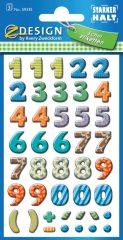 Avery Zweckform Z-Design No. 59335 papír öntapadó számok - vegyes színben - kiszerelés: 3 ív / csomag (Avery Z-Design 59335)