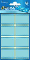 Avery Zweckform Z-Design No. 59374 papír matrica fagyasztott termékek feliratozására, megjelölésére - kék színben - kiszerelés: 5 ív / csomag (Avery Z-Design 59374)