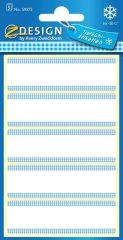 Avery Zweckform Z-Design No. 59375 papír matrica fagyasztott termékek feliratozására, megjelölésére - fehér színben kék színű kockás kerettel - kiszerelés: 5 ív / csomag (Avery Z-Design 59375)