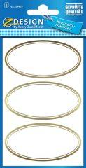 Avery Zweckform Z-Design No. 59419 papír matrica befőttes üvegre - dombornyomott arany kerettel - kiszerelés: 2 ív / csomag (Avery Z-Design 59419)