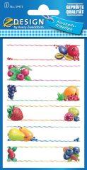 Avery Zweckform Z-Design No. 59473 papír matrica befőttes üvegre - különböző gyümölcs mintával - kiszerelés: 3 ív / csomag (Avery Z-Design 59473)