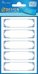 Avery Zweckform Z-Design No. 59528 papír matrica befőttes üvegre - díszes kék színű kerettel - kiszerelés: 3 ív / csomag (Avery Z-Design 59528)