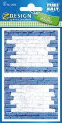 Avery Zweckform Z-Design No. 59596 öntapadó füzet matrica - kék színű téglafal motívumokkal - kiszerelés: 2 ív / csomag (Avery Z-Design 59596)