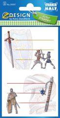 Avery Zweckform Z-Design No. 59597 öntapadó füzet matrica - középkori lovagok motívumokkal - kiszerelés: 2 ív / csomag (Avery Z-Design 59597)