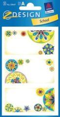 Avery Zweckform Z-Design No. 59647 papír matrica iskolai füzetekre - színes mandala motívumokkal - kiszerelés: 3 ív / csomag (Avery Z-Design 59647)