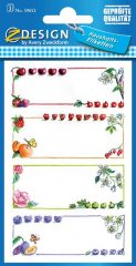 Avery Zweckform Z-Design No. 59652 papír matrica befőttes üvegre - gyümölcs mintával és színes kerettel - kiszerelés: 3 ív / csomag (Avery Z-Design 59652)