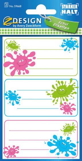 Avery Zweckform Z-Design No. 59668 öntapadó füzet matrica - tintapaca motívumokkal - kiszerelés: 2 ív / csomag (Avery Z-Design 59668)