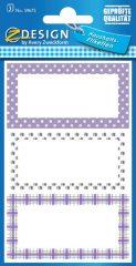 Avery Zweckform Z-Design No. 59675 papír matrica befőttes üvegre - díszes lila kerettel - kiszerelés: 3 ív / csomag (Avery Z-Design 59675)