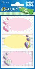 Avery Zweckform Z-Design No. 59680 öntapadó füzet matrica - színes szívek motívumokkal - kiszerelés: 3 ív / csomag (Avery Z-Design 59680)