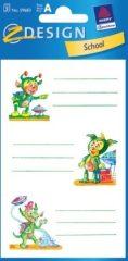 Avery Zweckform Z-Design No. 59683 papír matrica iskolai füzetekre - űrmanók motívumokkal - kiszerelés: 3 ív / csomag (Avery Z-Design 59683)