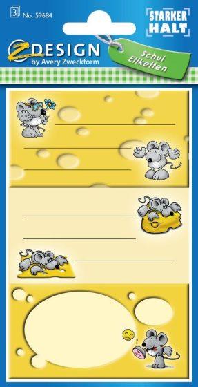 Avery Zweckform Z-Design No. 59684 papír matrica iskolai füzetekre - egeres motívumokkal - kiszerelés: 3 ív / csomag (Avery Z-Design 59684)