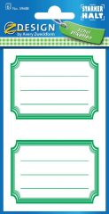 Avery Zweckform Z-Design No. 59688 öntapadó füzet matrica - zöld színű kerettel - kiszerelés: 6 ív / csomag (Avery Z-Design 59688)