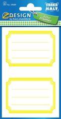 Avery Zweckform Z-Design No. 59689 öntapadó füzet matrica - sárga színű kerettel - kiszerelés: 6 ív / csomag (Avery Z-Design 59689)