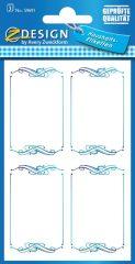 Avery Zweckform Z-Design No. 59691 papír matrica befőttes üvegre - kék színű kerettel - kiszerelés: 3 ív / csomag (Avery Z-Design 59691)