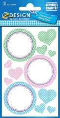 Avery Zweckform Z-Design No. 59696 papír matrica befőttes üvegre - pöttyös mintával - kiszerelés: 3 ív / csomag (Avery Z-Design 59696)