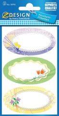 Avery Zweckform Z-Design No. 59792 papír matrica befőttes üvegre - színes virágok mintával - kiszerelés: 2 ív / csomag (Avery Z-Design 59792)