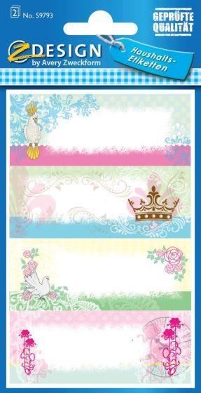 Avery Zweckform Z-Design No. 59793 papír matrica befőttes üvegre - színes virágok mintával - kiszerelés: 2 ív / csomag (Avery Z-Design 59793)